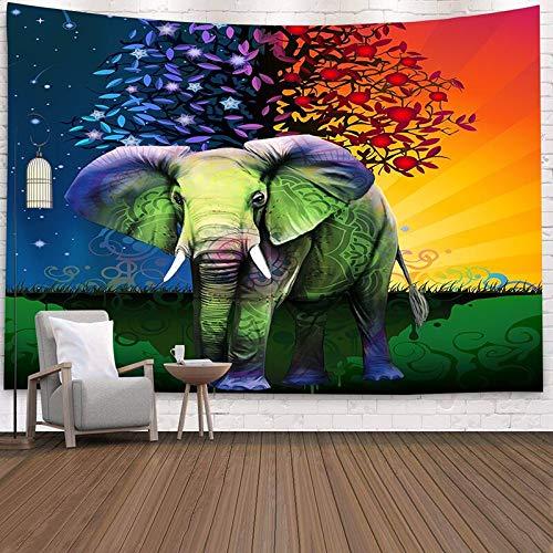 KHKJ Mandala Bohemia Tapiz de Elefante Colgante de Pared Playa de Arena Picnic Alfombra Manta Tienda de campaña Viaje Almohadilla para Dormir A1 150x130cm