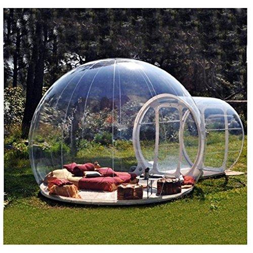 Wly&Home Aufblasbares Blasen-Zelt-Haus, Familien-Camping-Hinterhof-Transparente Luft-Hauben-Zelte Mit Freiem CER/UL-Gebläse Und Reparaturinstallationssatz.