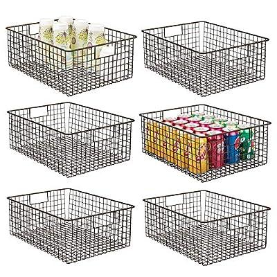 mDesign Metal Wire Food Storage Organizer Bin from