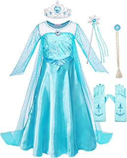 AmzBarley Princess Costumes Girls Dress for Toddler Children Birthday Party Halloween Christmas Cosplay Outfits Adventure ...