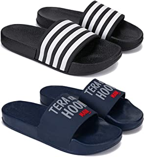 Bersache Fashion Perfect Washable Flip-Flop & Slipper, Slides Walking Slipper for Men Pack of 2 Combo-3116-1588