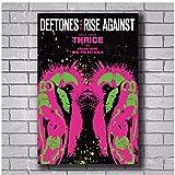 MGSHN Deftones Rise Against Thrice Rock Poster und Drucke