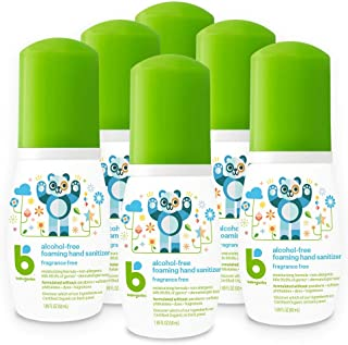 Babyganics Alcohol-Free Foaming Hand Sanitizer, On-The-Go, Fragrance Free, Packaging May Vary, 1.69 Fl Oz (...