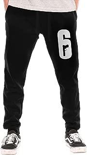 Men's Sweatpants Rainbow Six Siege Logo Athletic Jogger Long Pants Black