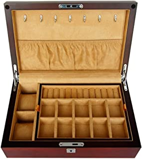 Jewelry Boxes Jewelry Box Earring Box Boxes & Organisers Wooden Double Storage Jewelry Box Watch Storage Box Solid Wood Si...
