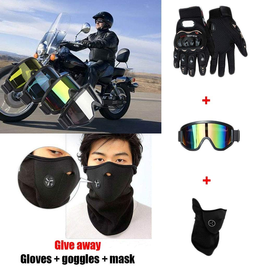 OUTLL Adulto Motocross Cascos, con Gafas Guantes Máscara, Ciudad ...