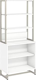 Office by kathy ireland Method Bookcase with Hutch in White
