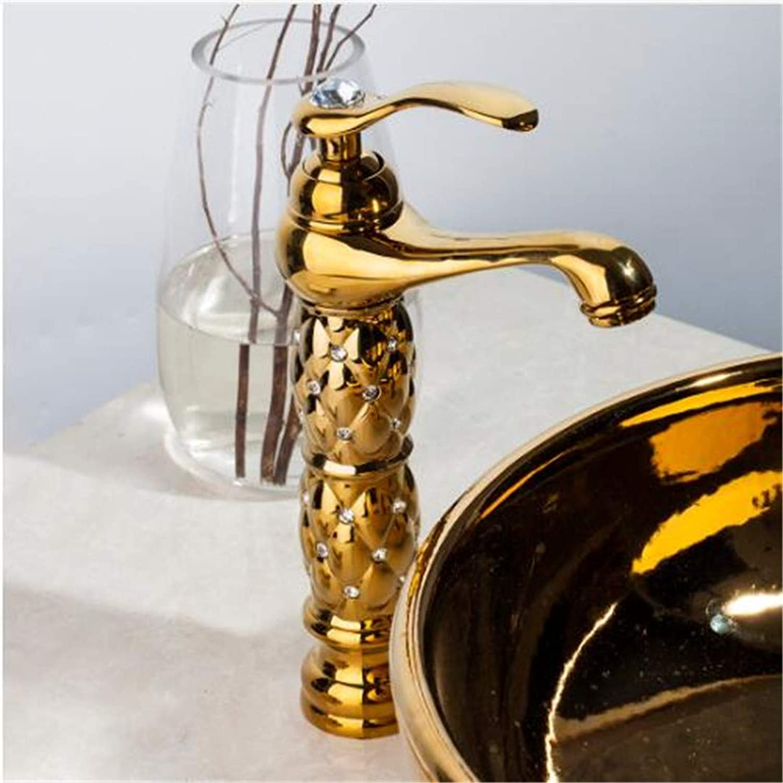 Oudan Faucet Basin Faucet Bathroom Faucet Kitchen Faucetbathroom Faucets Basin High&Short Faucet Luxury gold Deck Mounted Single Handle Sink Faucets Mixers Taps (color   -, Size   -)