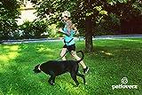 Hunde Joggingleine/Laufleine mit verstellbarem Hüftgurt   Leine zum handfreien Laufen/Fahrrad fahren   elastische Bungee Leine mit Reflektoren für Hunde bis 60kg   zusätzliche Tasche für Handy und Schlüssel etc.   Nylon   schwarz   super zum Laufen, Joggen, Wandern und Gassi gehen – PETLOVERZ® - 6