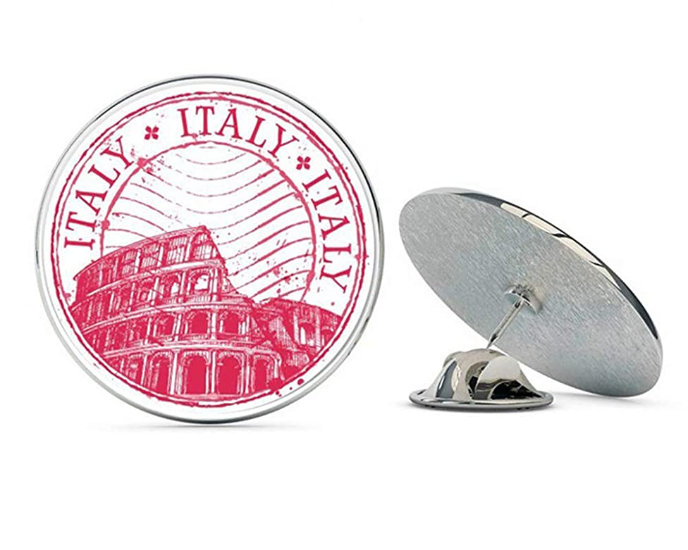 NYC Jewelers Italy Rome Travel Stamp Colosseum Metal 0.75