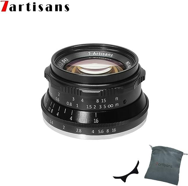 7artisans F1.2 APS-C - Lente de Enfoque Manual de 35 mm para cámaras compactas sin Espejo Canon M1 M2 M3 M5 M6 M10 EOS-M Color Negro