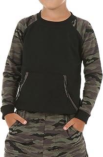 Dykmod Blusa de camuflaje militar para niño 116-158