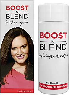 BOOST N BLEND Dark Brown Hair Loss Concealer with Magnifying Mirror