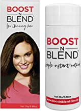 BOOST N BLEND Medium Brown Hair Fibers for Thinning Hair - Women's Hair Loss Concealer - Thick Natural Cotton Hair Building Fiber Filler for Women - Hair Thickening Fillers for Ladies - 22g/0.78oz