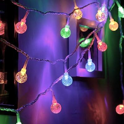 Ollny Globe String Lights 33ft 60 LEDs Multi Co...