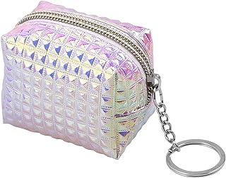 FENICAL Mini Porte-Monnaie Zipper Coin Porte-Monnaie Portefeuille pour clés de Carte d'identité de Carte de crédit Femmes