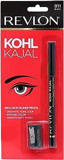 Revlon Kohl Kajal Eye Liner Pencil, Black, 1.14g Sharpner
