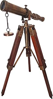 Ancient Lake 1966 Brass Telescope with Tripod Stand Antique Finish Vintage Nautical