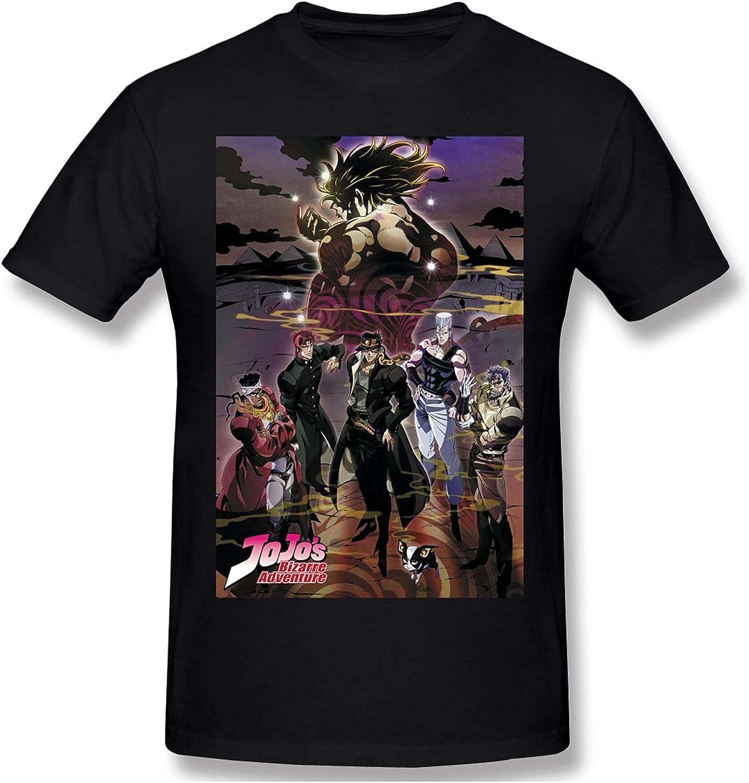 Anime JoJo's Bizarre Adventure T Shirt Men's Leisure Round Neck Top Shirts