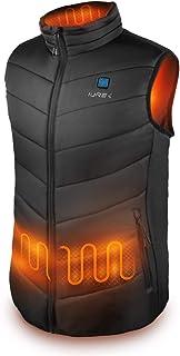 comprar comparacion IUREK Chaleco Calefactable Hombre ZD920, Chaleco Térmico Impermeable y Lavable con Banco de Energía 10000 mAh, 3 Temperatu...