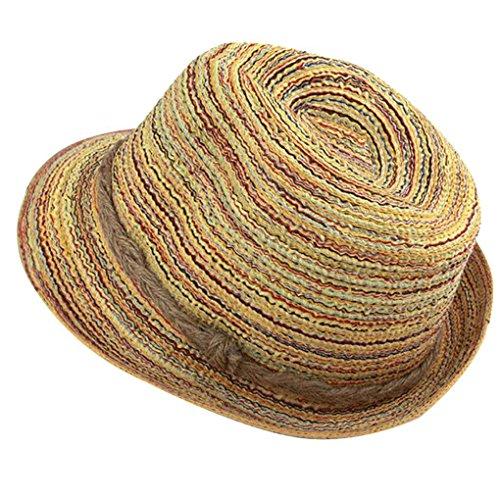 Bobury Estilo Coreano Paja de Las Mujeres Cap Panamá Bohemian Girl Vestido de Sombrero del Verano al Aire Libre Salida de Pesca Casquillo de Sun Transpirable