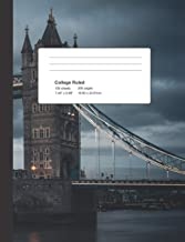 Composition Book - London Bridge Cover - 200 pages - College Ruled Paper For Students, Teachers, and Creatives