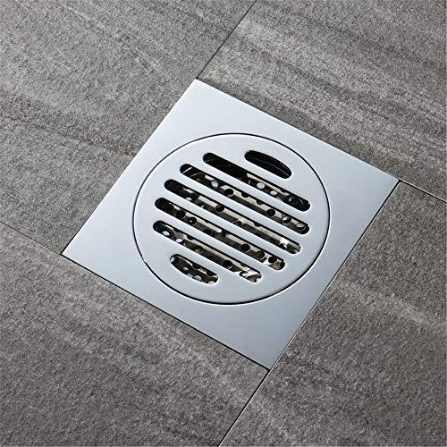 PIJN Bodenablauf Badezimmer WC Großes Displacement Insect-Proof Kupfer Bodenablauf Deodorant Bodenablauf (Color : Metallic, Size : 120x120x45mm)