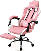 Home Office Furniture/Office Chairs & Sofas Pink Chair Home Leather Office Chair Girls Gaming Swivel Chair Professional Er...