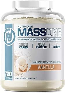 Massone Mass Gainer Protein Powder by NutraOne – (Vanilla - 7 lbs.) …