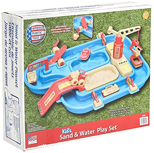 Product Image of the American Plastic Toys Kids' Sand and Water Playset, One-Piece Industrial...