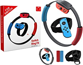 Mylujo Adjustable Elastic Leg Strap Sport Band Ring-Con Grips Leg for Nintend Switch Joy-con Ring Fit Adventure Game