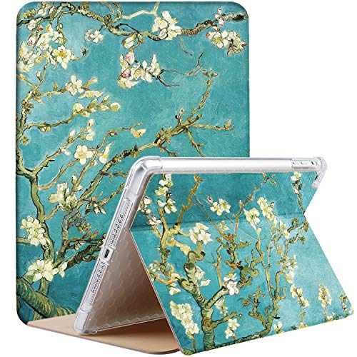 DuraSafe Cases For iPad 10.5 (PRO / Air 3) 2017 / 2019 MQDX2LL/A MQDT2LL/A MQDW2LL/A MUUL2LL/A MUUK2LL/A MUUJ2LL/A Slim Book Cover with AirBag Corner for Extra Shock protection - Blossom