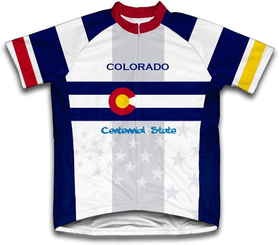 ScudoPro New Free Shipping Colorado Flag Short Sale SALE% OFF Sleeve Jersey for Cycling Men