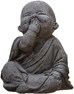 VIXU - Buda Bebé - Escultura de Polvo de Mármol con Cemento - Decoración Feliz