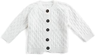 Simplee kids Baby Sweater Cable Knitting Thick Baby Unisex Cardigan for Autumn Fall 3-24 Months