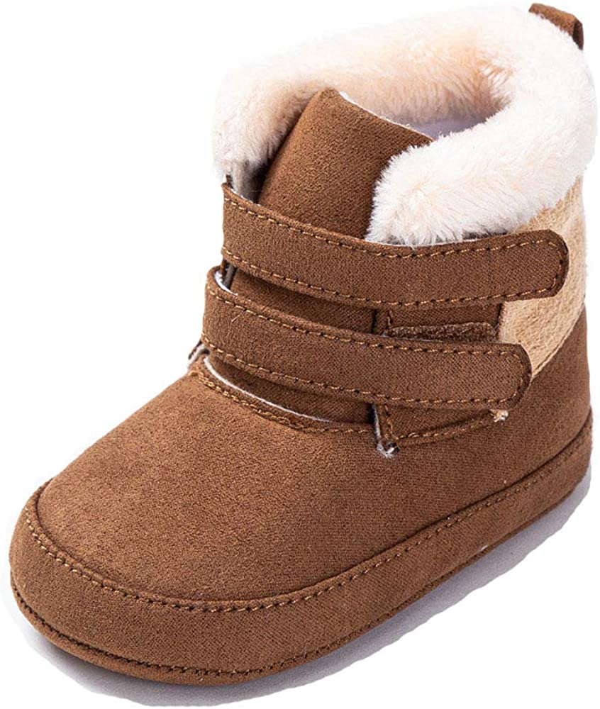 TSAITINTIN Baby Boys Girls Fleece Bootie Infant Soft First Walkers Shoes