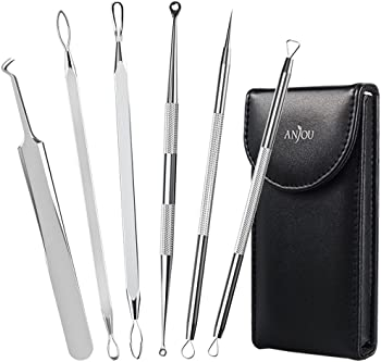 Anjou 6-in-1 Professional Blackhead Remover Comedone Extractor