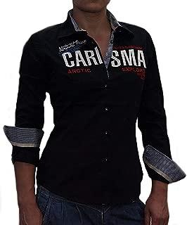 Designer Damen Bluse von CARISMA CRM1014 Navy bestickt Brandneu !!