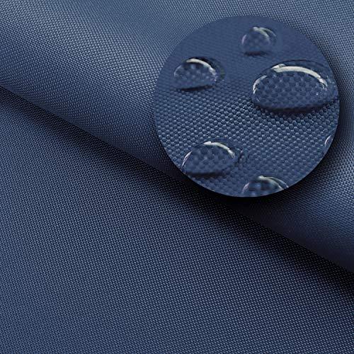 NOVELY® Sunset Oxford 420D - Polyesterstoff Extrem Reißfest Dicht   UV-beständig Waterproof   Polyester Garten Stoff 1 lfm Outdoor Meterware Wasserdicht 25 Navy Dunkelblau
