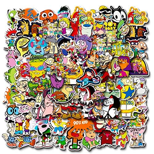 100pcs 90s Cartoon Stickers,Vinyl Waterproof Stickers for...