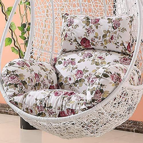 HYDD Hangstoel met antislip stoelkussen, voor binnen en buiten, balkon