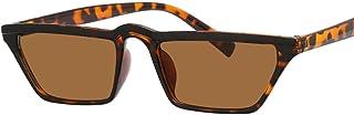 Único Gafas de Sol Sunglasses Gafas De Sol Cuadradas Pequeñas para Mujer, Hombre, Gafas De Sol De Diseñador Vintage,M