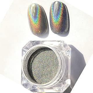 2 Box Nail Dip Powder Holographic Rainbow Powder Sliver Glitter Magic Unicorn Mirror Chrome Manicure Dust Powder Super Fine Gorgeous Nail Art Glitter Pigment 0.04 OZ/1G (Sliver 2 Box)