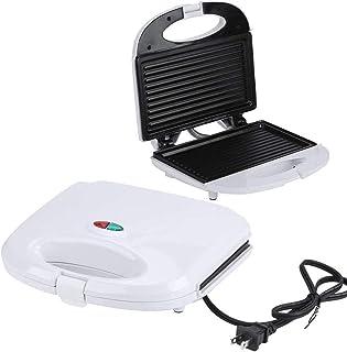 Mini máquina de hacer pan para sándwiches eléctrica multifunción, máquina de desayuno Panini, sartén para hornear, enchufe...