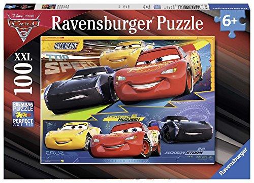 Ravensburger Italy- Puzzle Cars, 100 Pezzi, Multicolore, 10961
