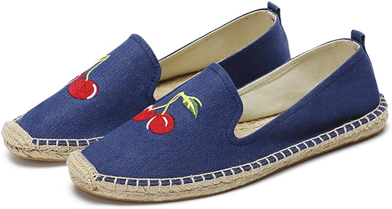 QZUnique Women's Canvas Slip-on shoes Loafers Casual Sneakers Flats