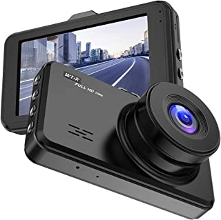 Dash Cam, 1080P FHD Car Camera , Driving Recorder 170°Wide Angle Lens, 3.0  IPS LCD Screen ,G-Sensor, Loop Recording, Motion Detection,WDR,Parking Monitor