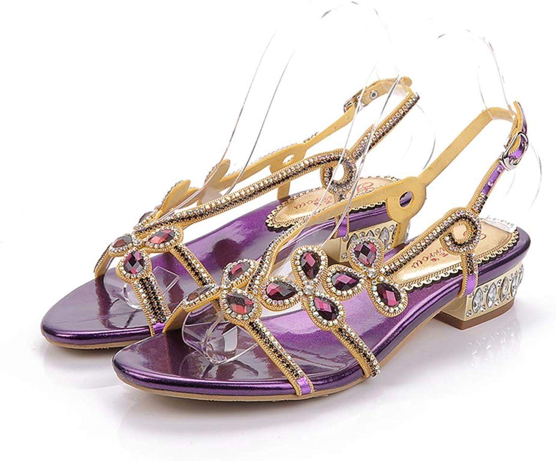 Sparrow Gladiator Flat Sandals Women shoes Luxury Rhinestone Flower Summer Sandals Flat Heel Wedding shoes