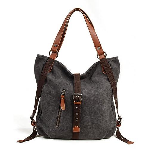 0c162f36e COOFIT Handbag Backpack Canvas Handbags Shoulder Bag Ladies Rucksack  Multifunctional Bags for Women