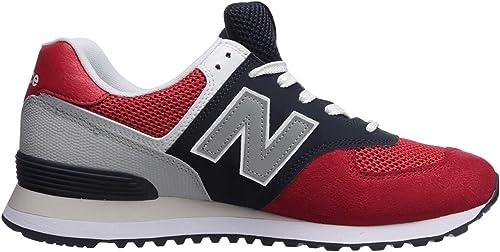New Balance 574v2 - Sneaker da Uomo, (Team Red/Pigment), 36.5 EU ...